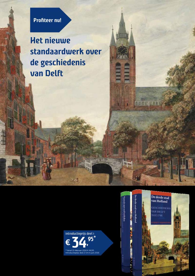 Flyer Geschiedenis van Delft